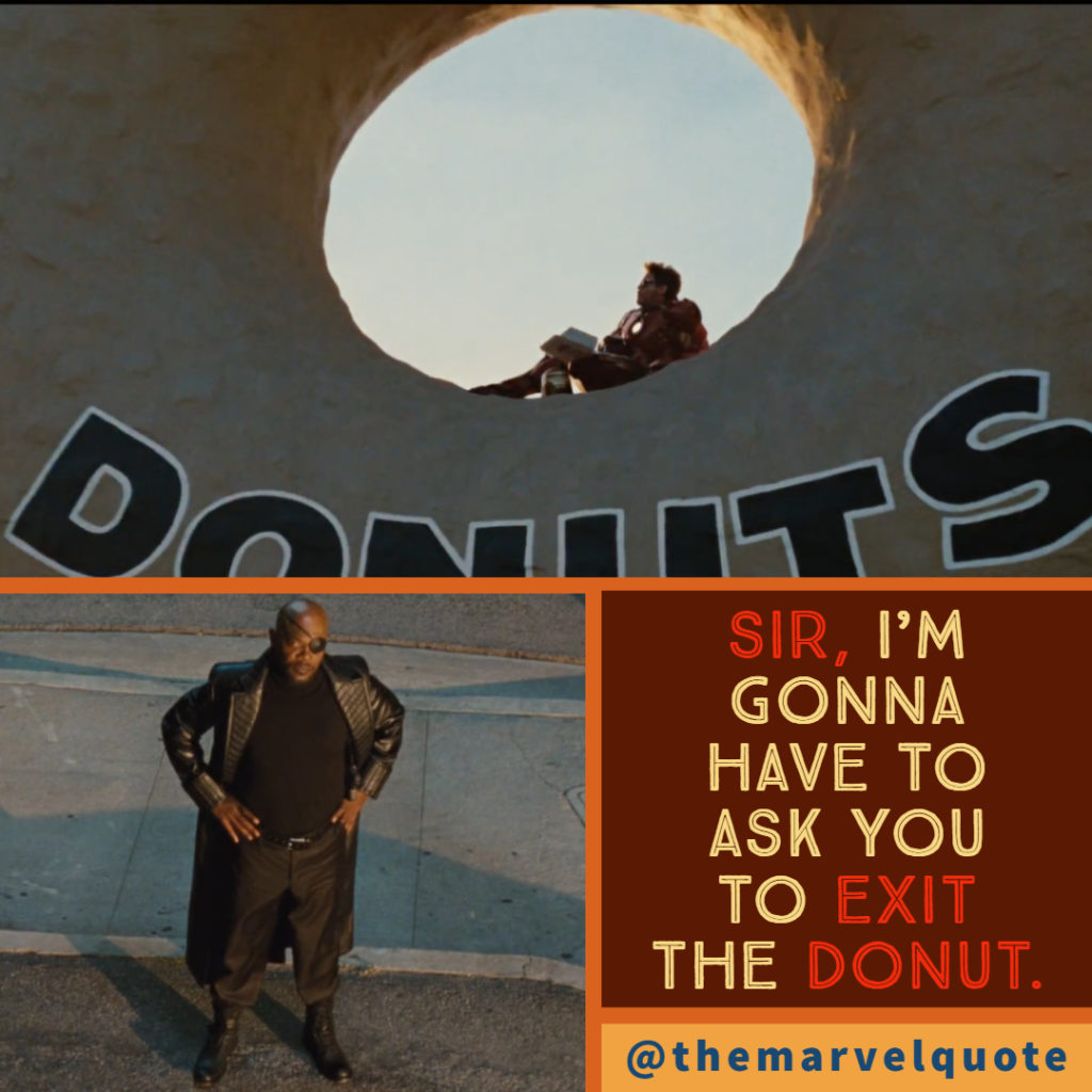 Exit the Donut Ironman 2 quotes marvel quote