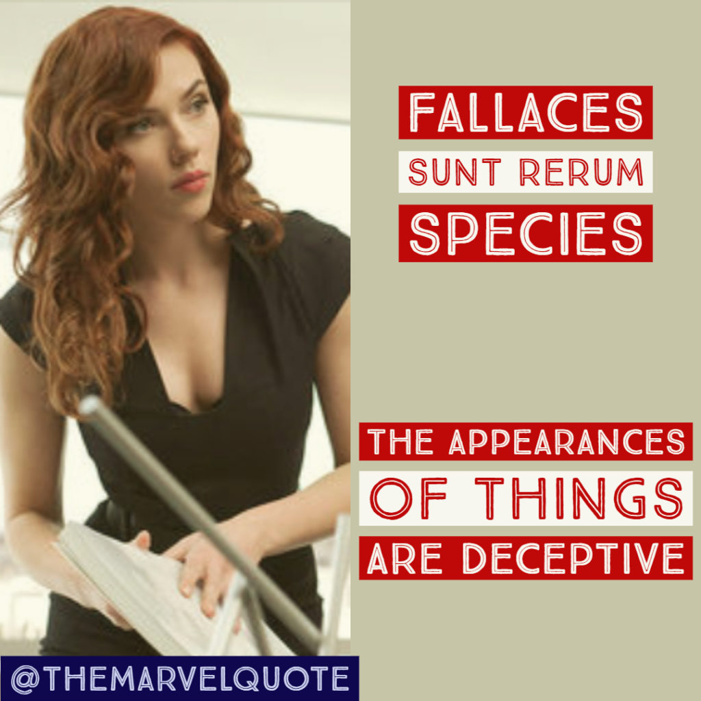 Fallaces sunt rerum species ironman 2 quotes