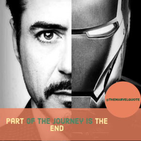 Avengers End Game Part of the journey is END